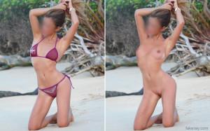 fake nude bikini yoga