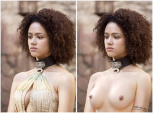 Missandei topless fake